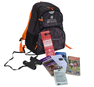 Library Backpack and Contents